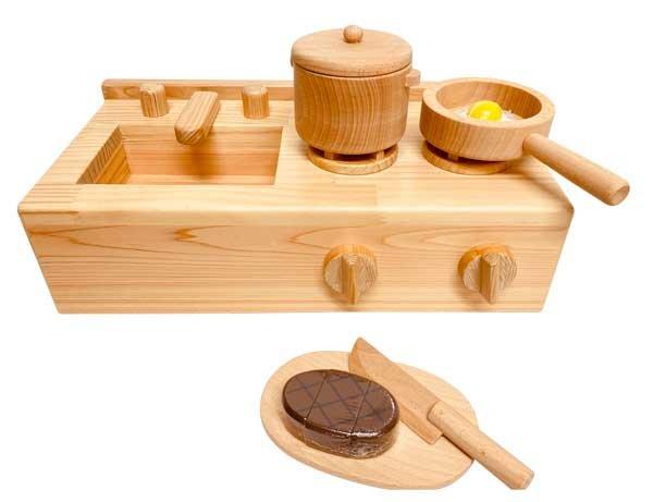 画像1: ままごとキッチンセット(小物類は別売りです) (1)